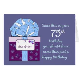 75th Cartão customizável do aniversário