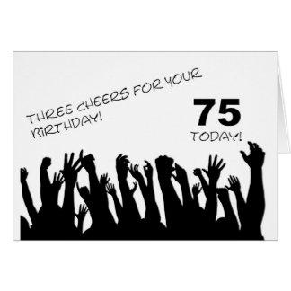 75th Cartão de aniversário com os aplausos que ace