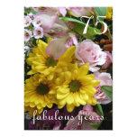 75th Celebração do aniversário! - Flores Convites Personalizados