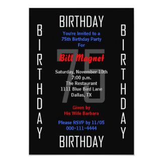 75th Convite de aniversário 75