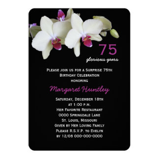 75th Convite de aniversário da surpresa