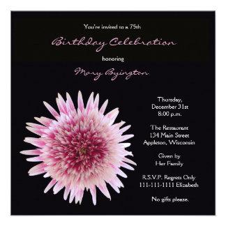 75th Convite de aniversário -- Gerbera lindo