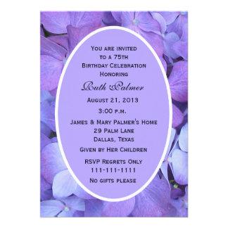 75th Convite de aniversário -- Hydrangea