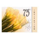 75th convite de aniversário - lírios de Calla