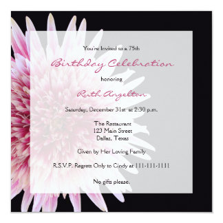 75th Convite de aniversário -- Margarida do