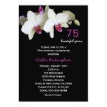 75th Convite de aniversário -- Orquídeas