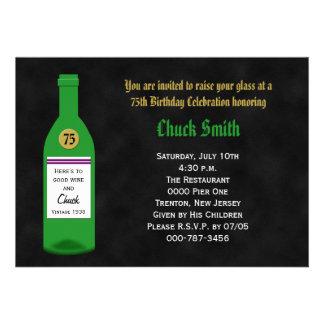 75th convite de aniversário - quadro