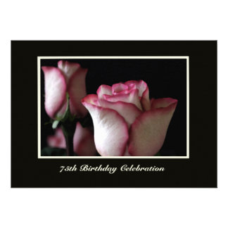 75th Convite de aniversário -- Rosas