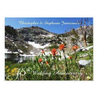 75th Convite do aniversário de casamento,