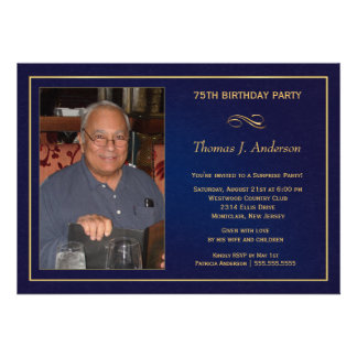 75th convites de festas de aniversários - adicione