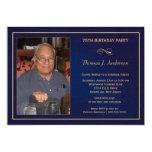 75th convites de festas de aniversários - adicione convite 12.7 x 17.78cm