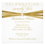 75th convites de festas de aniversários elegantes