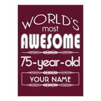 75th Do aniversário dos mundos obscuridade Convites