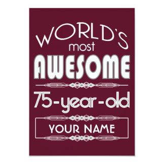 75th Do aniversário dos mundos obscuridade Convite 12.7 X 17.78cm