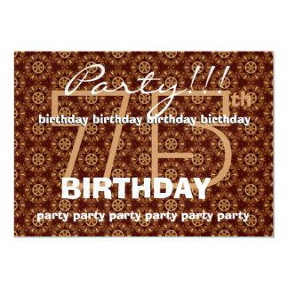 75th O chocolate retro da festa de aniversário Convite 12.7 X 17.78cm
