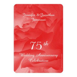 75th O convite da festa de aniversário do Convite 12.7 X 17.78cm