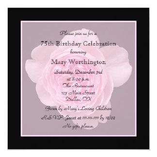 75th O convite de aniversário aumentou para o 75th