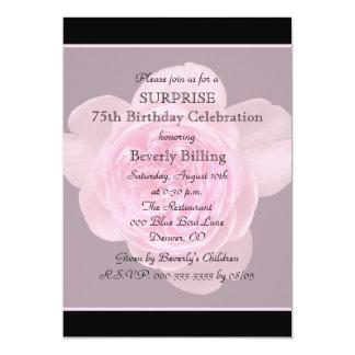 75th O convite de aniversário da surpresa aumentou