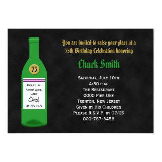 75th Quadro do convite de aniversário