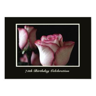 75th Rosas do convite de aniversário