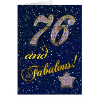 76th Convite de aniversário