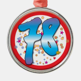 78th Aniversário Ornamentos Para Arvore De Natal