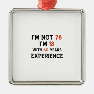 78th design do aniversário enfeite