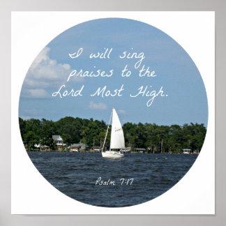 7 17 do salmo eu cantarei elogios ao senhor… impressão