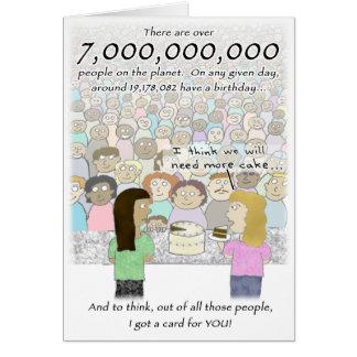 7 bilhão pessoas de cartão de aniversário