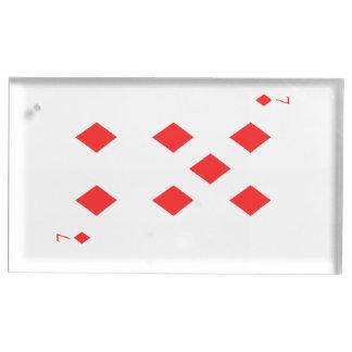7 dos diamantes suporte para cartoes de mesas