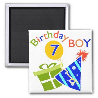 7o aniversário - menino do aniversário imas de geladeira