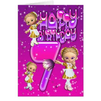 7o Empregadas domésticas pequenas bonitos do Cartão Comemorativo