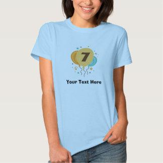 7o Ideia do presente da festa de aniversário T-shirts