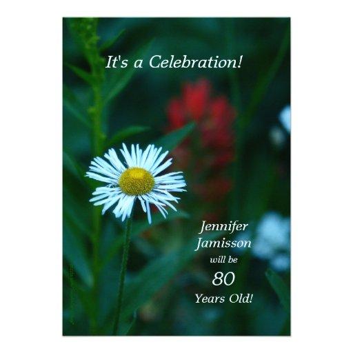 80 anos de festa de aniversário idosa convidam a f convites