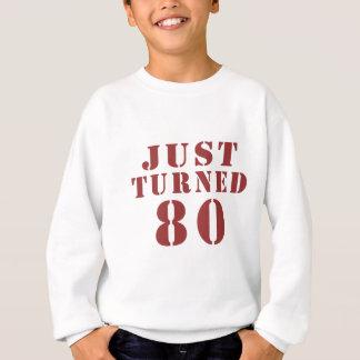 80 apenas girado aniversário agasalho
