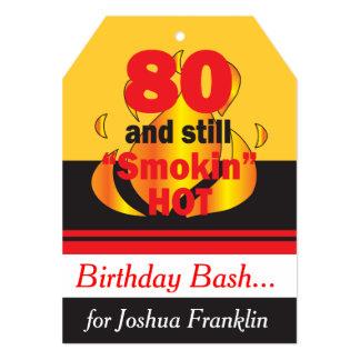 80 e ainda tema quente do aniversário de Smokin Convite 12.7 X 17.78cm