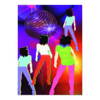 80s disco temático do convite de festas 80s