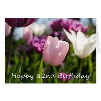 82nd Cartão de aniversário
