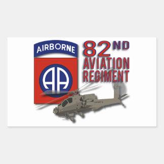 82nd Regimento Apache da aviação Adesivo Retangular
