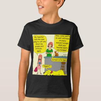 855 poço - desenhos animados informado camiseta