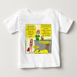 855 poço - desenhos animados informado camiseta para bebê
