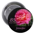 85 anos velho, Pin do botão do rosa do rosa Pins