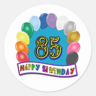 85th aniversário feliz com balões adesivo