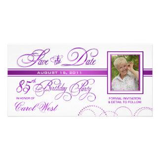 85th aniversário - salvar o anúncio da foto da cartão com foto