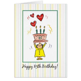 85th Cartão de aniversário para uma mulher, humor