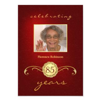 85th Convites da foto da festa de aniversário -