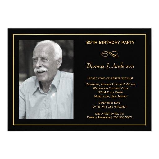 85th convites de festas de aniversários - com sua