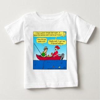 870 como você fez para fora a pesca de desenhos camiseta para bebê