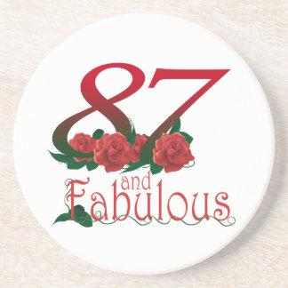87th Porta copos do aniversário