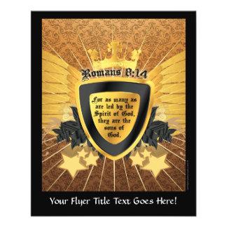 8:14 dos romanos do ouro, filhos do deus panfletos personalizados